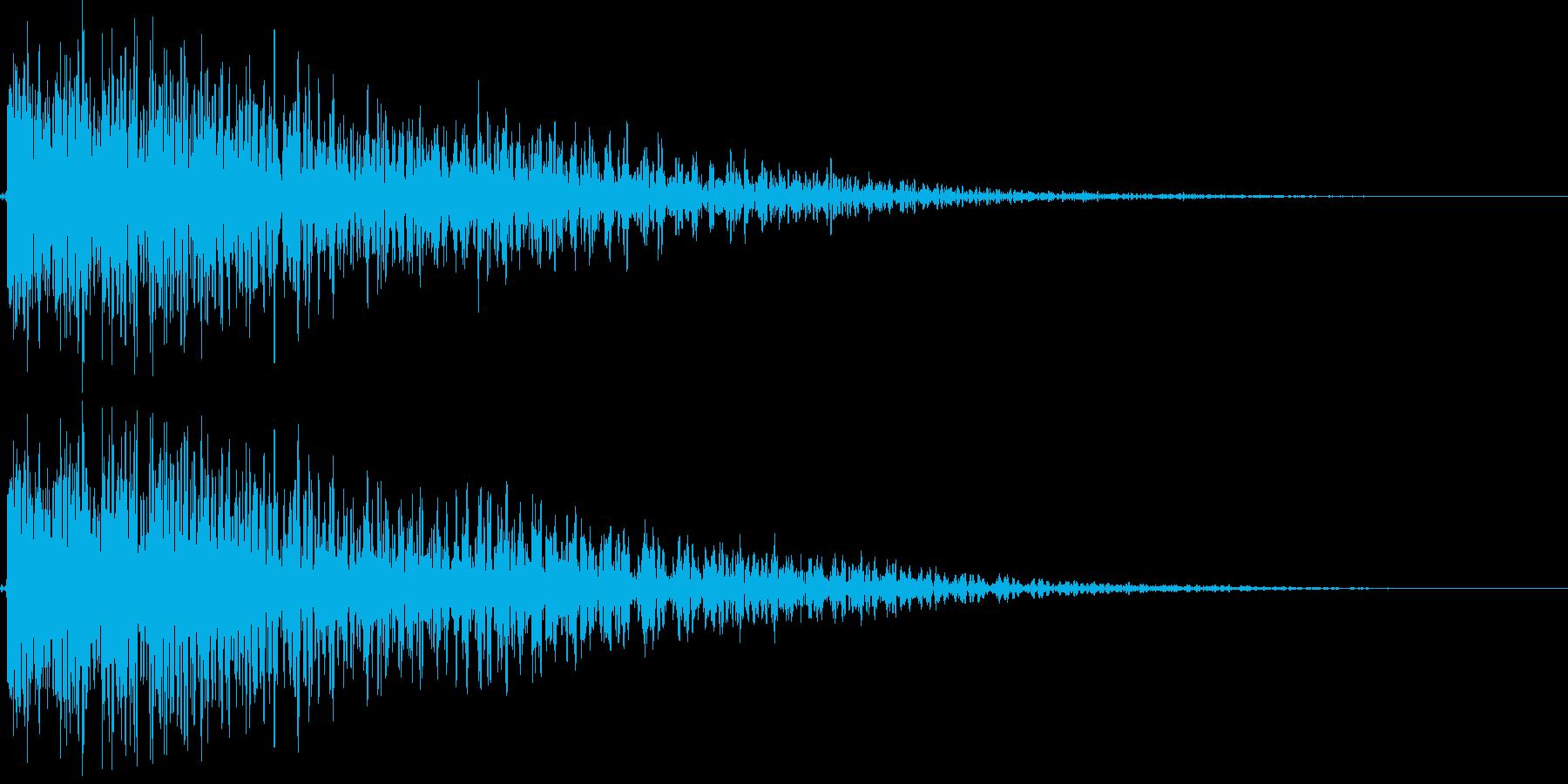 デデーン(がっかり、レベルダウン、ミス)の再生済みの波形