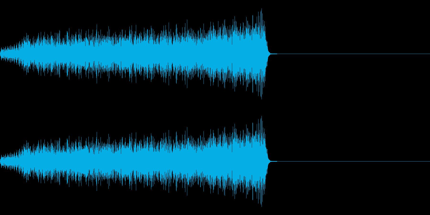 「シュー」という感じのノイズサウンドで…の再生済みの波形