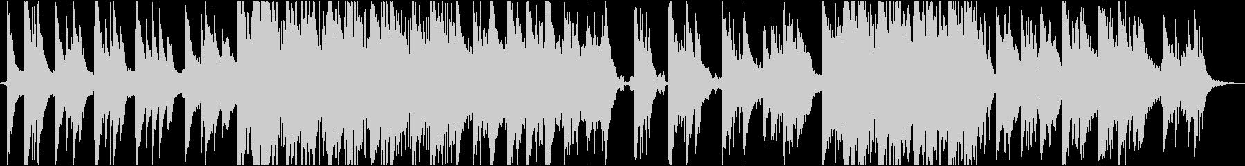 ピアノが印象的なインスタレーション音楽3の未再生の波形