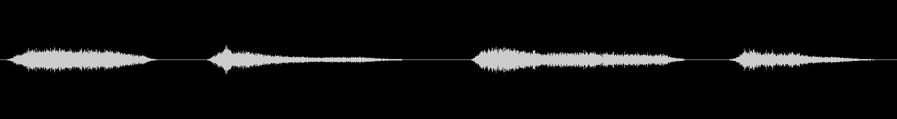 ス~…ス~…(寝息)の未再生の波形