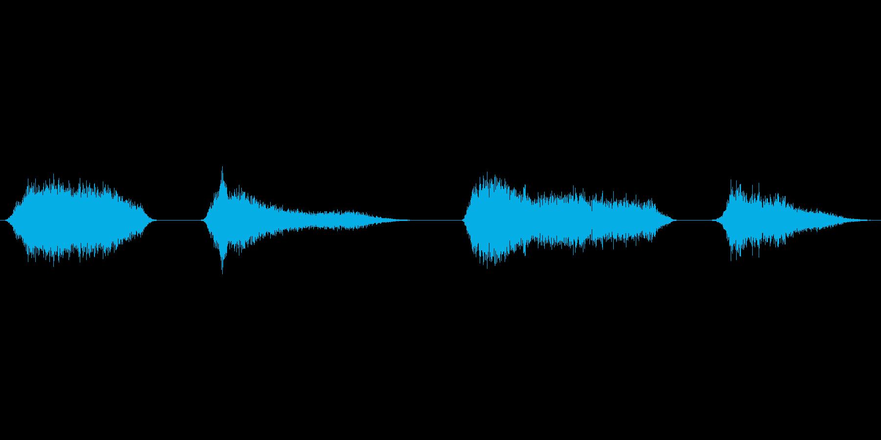 ス~…ス~…(寝息)の再生済みの波形