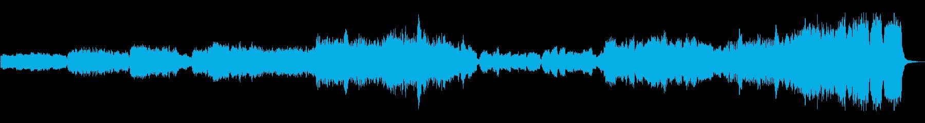 映像に使いやすいファンタジーで楽しい曲の再生済みの波形
