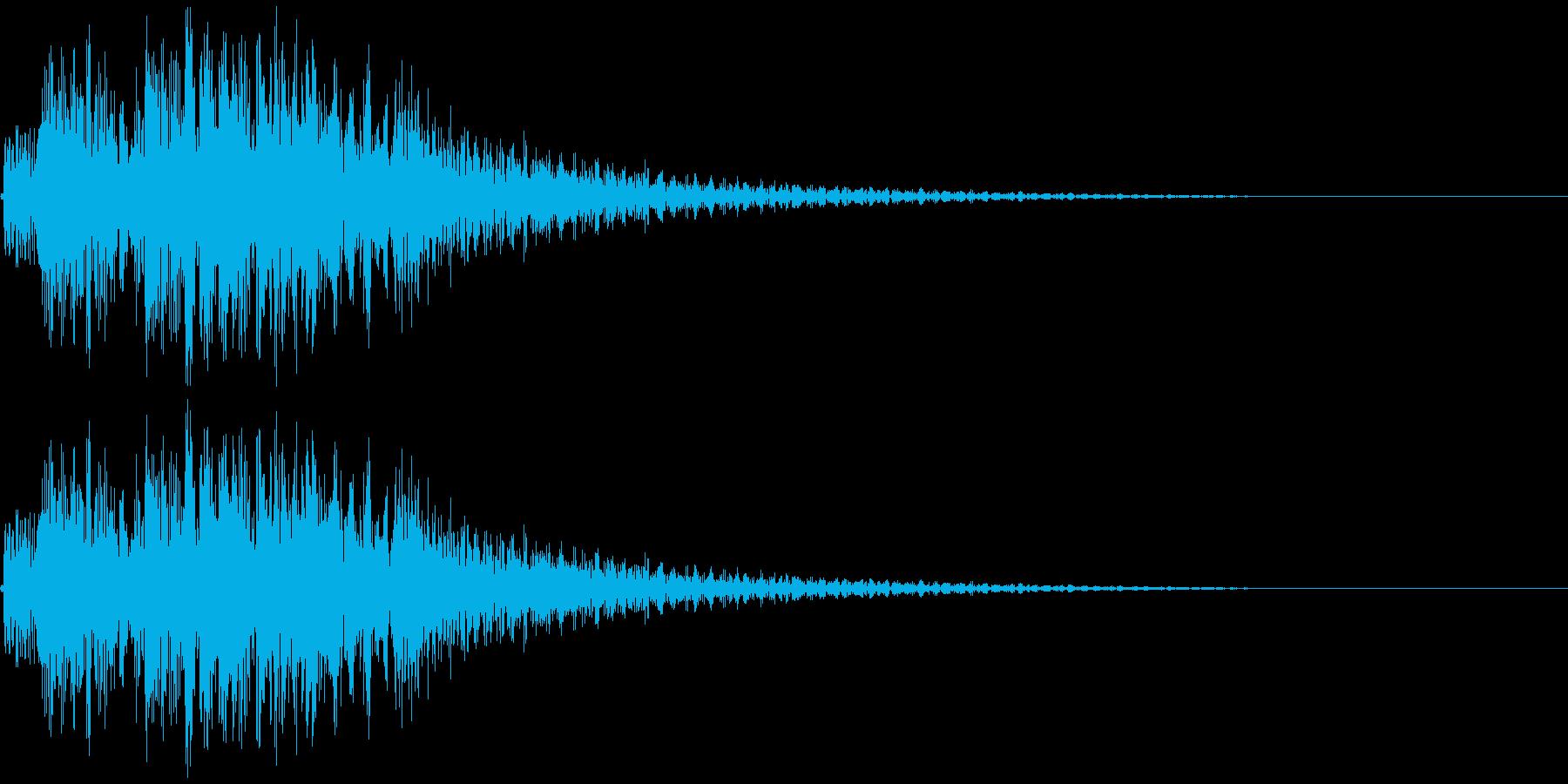 テレレレン↑ 琴 速い上昇の再生済みの波形