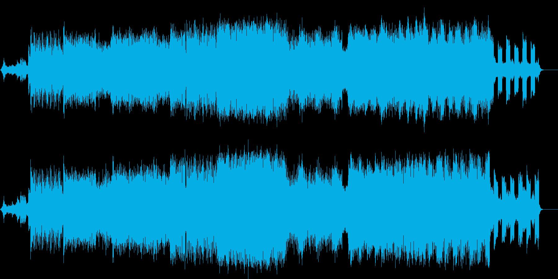 時空間をトリップする様な緊迫感溢れる曲の再生済みの波形