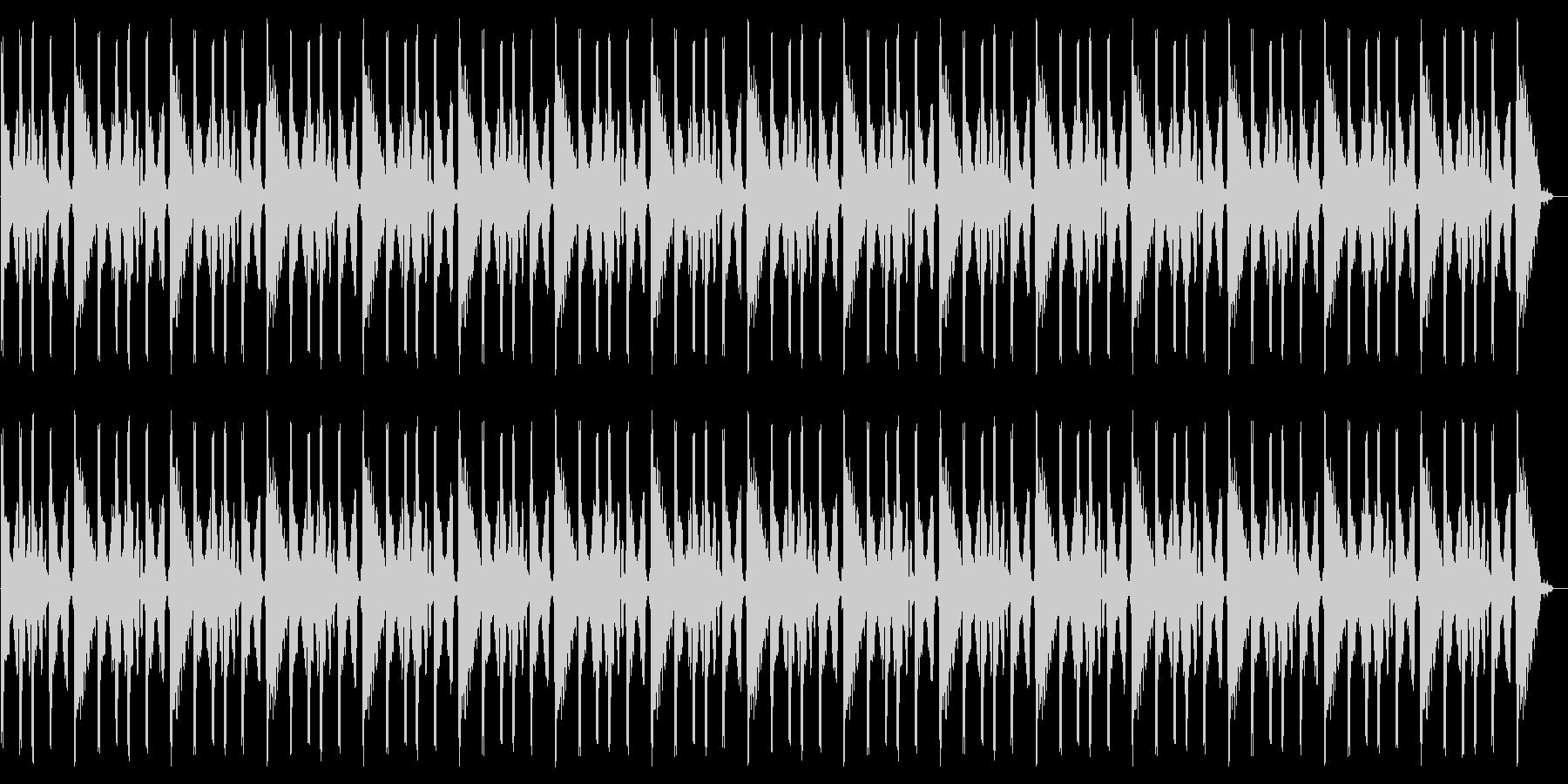 エレキギターの効果音ループの未再生の波形
