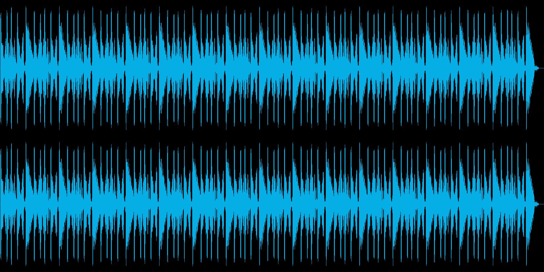 エレキギターの効果音ループの再生済みの波形