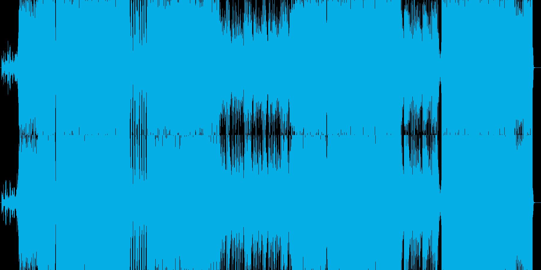 途中でリズムが変わるハードチューンの再生済みの波形