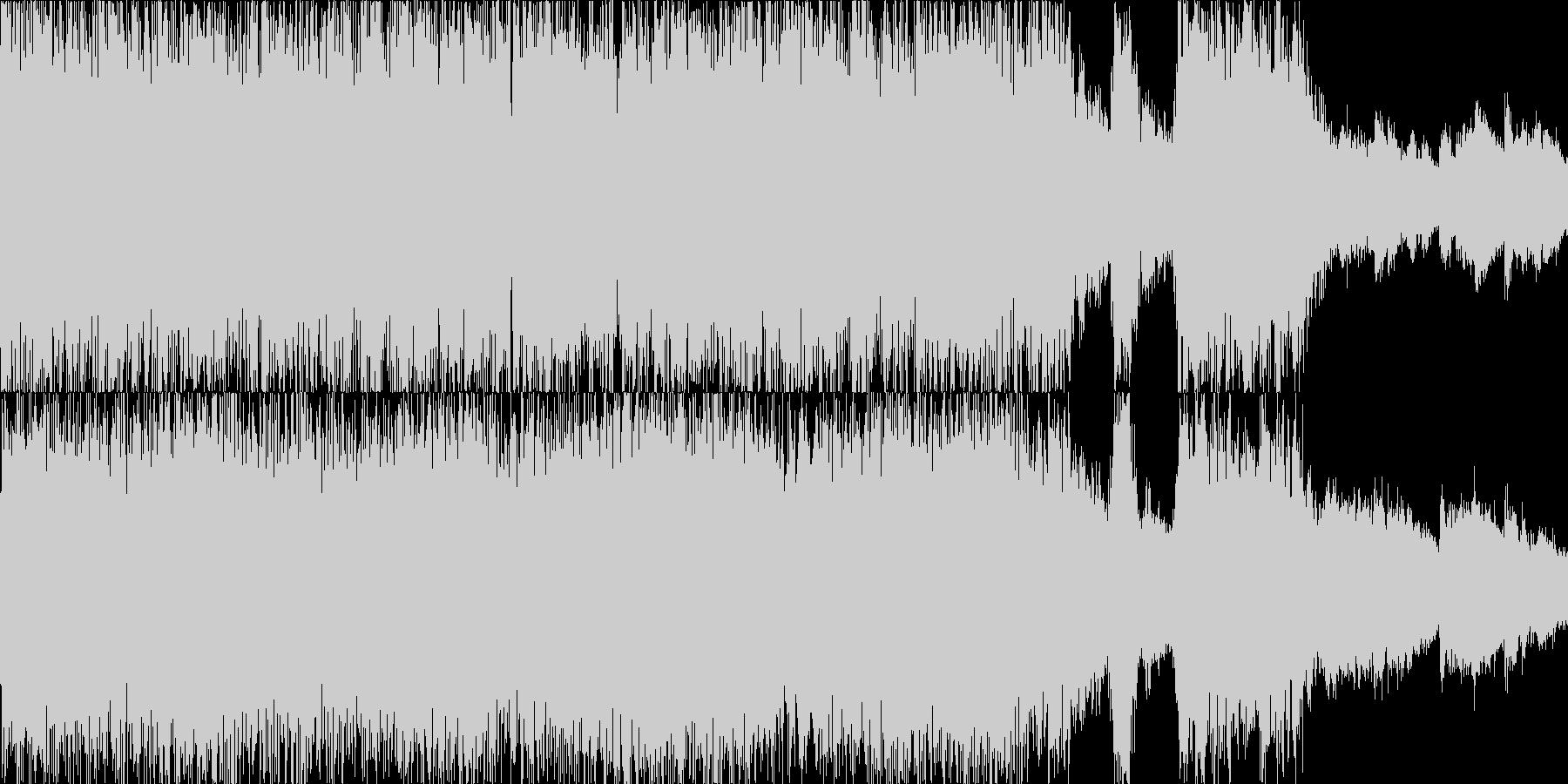 荘厳なコーラス+重厚なロックのループの未再生の波形