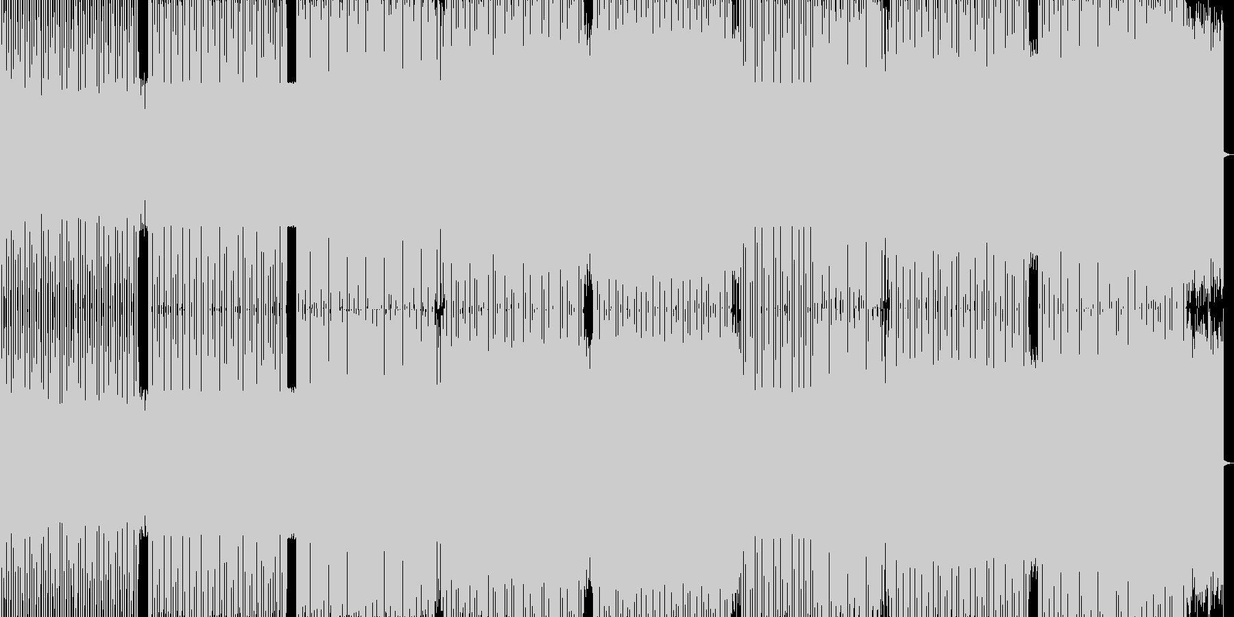 かっこよさを追求したダンステクノの未再生の波形