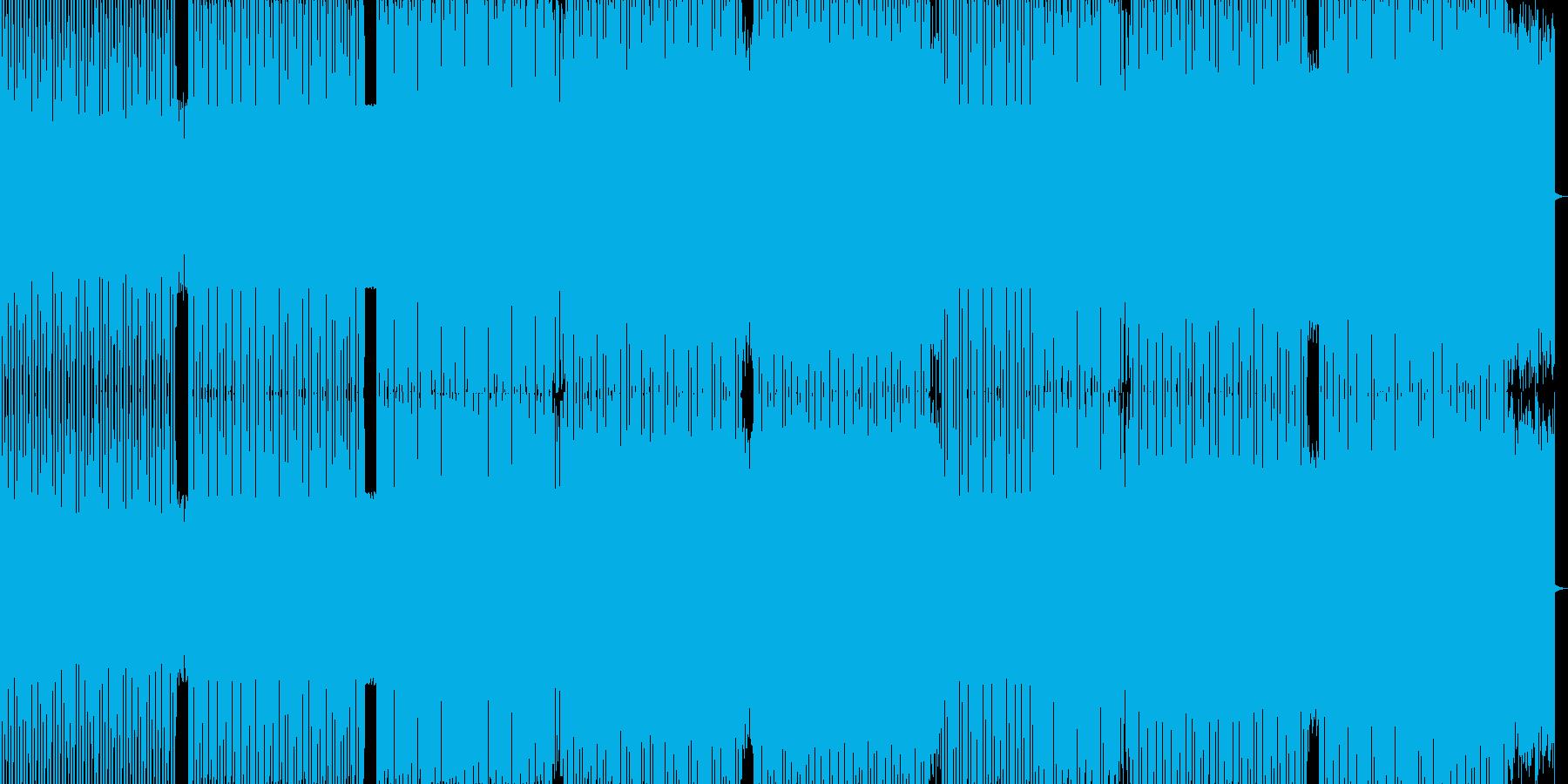 かっこよさを追求したダンステクノの再生済みの波形