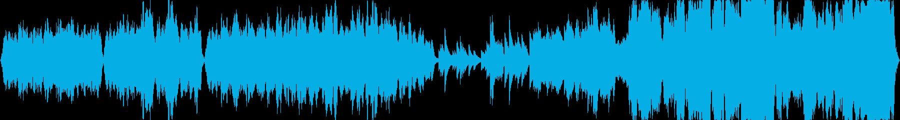 ストリングスとピアノを使用した楽曲とな…の再生済みの波形