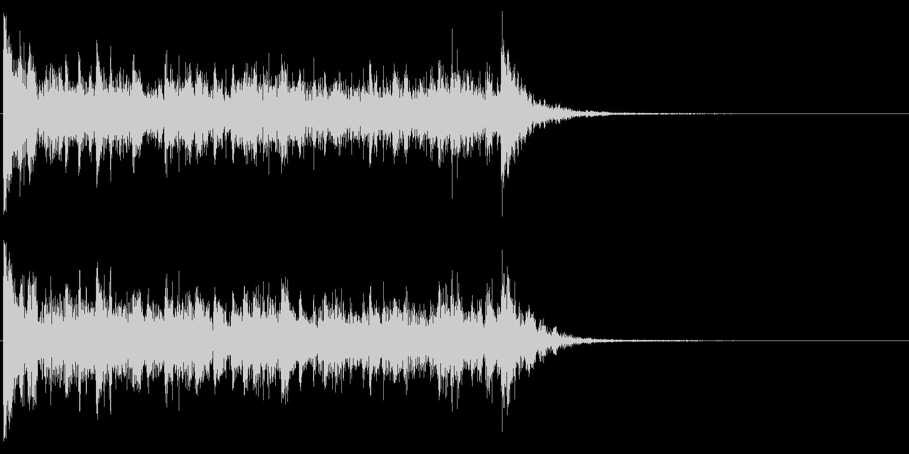 ドラムロール・スネアロール(短い)の未再生の波形