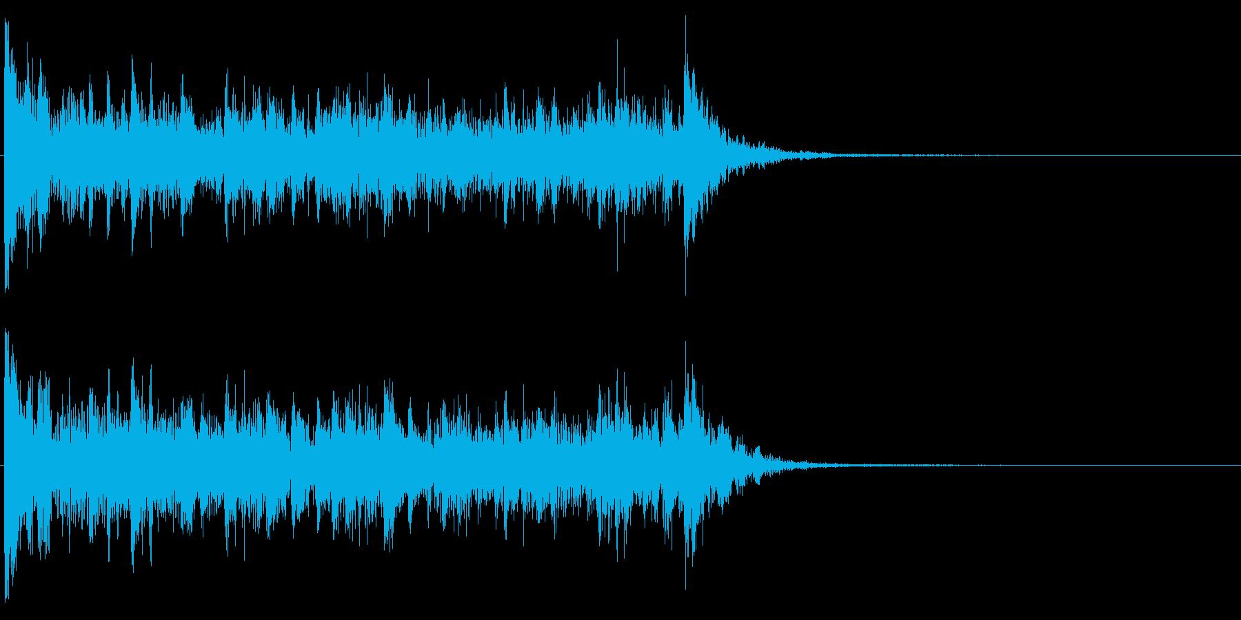 ドラムロール・スネアロール(短い)の再生済みの波形