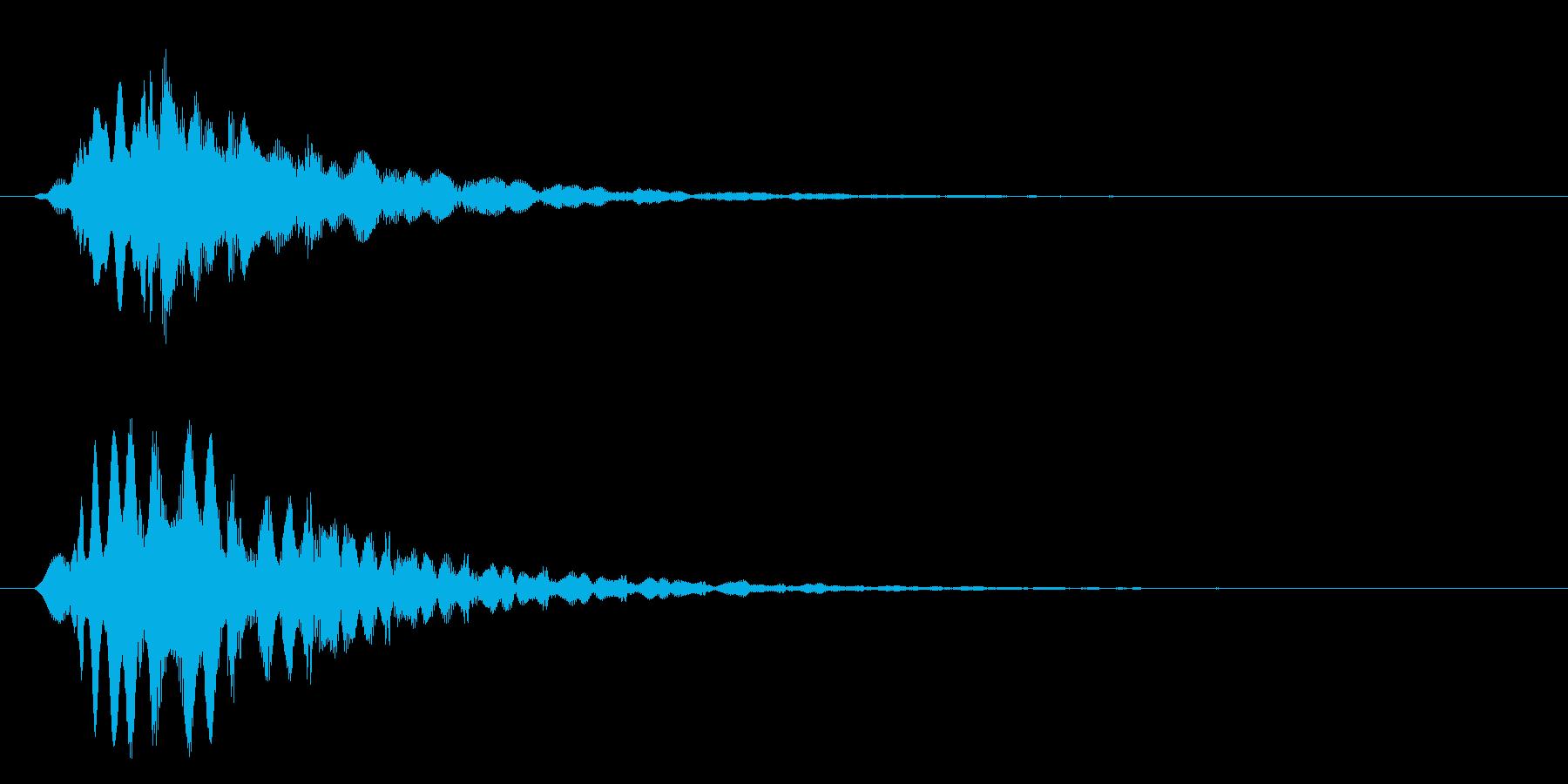 フィヨンー(響き有)の再生済みの波形