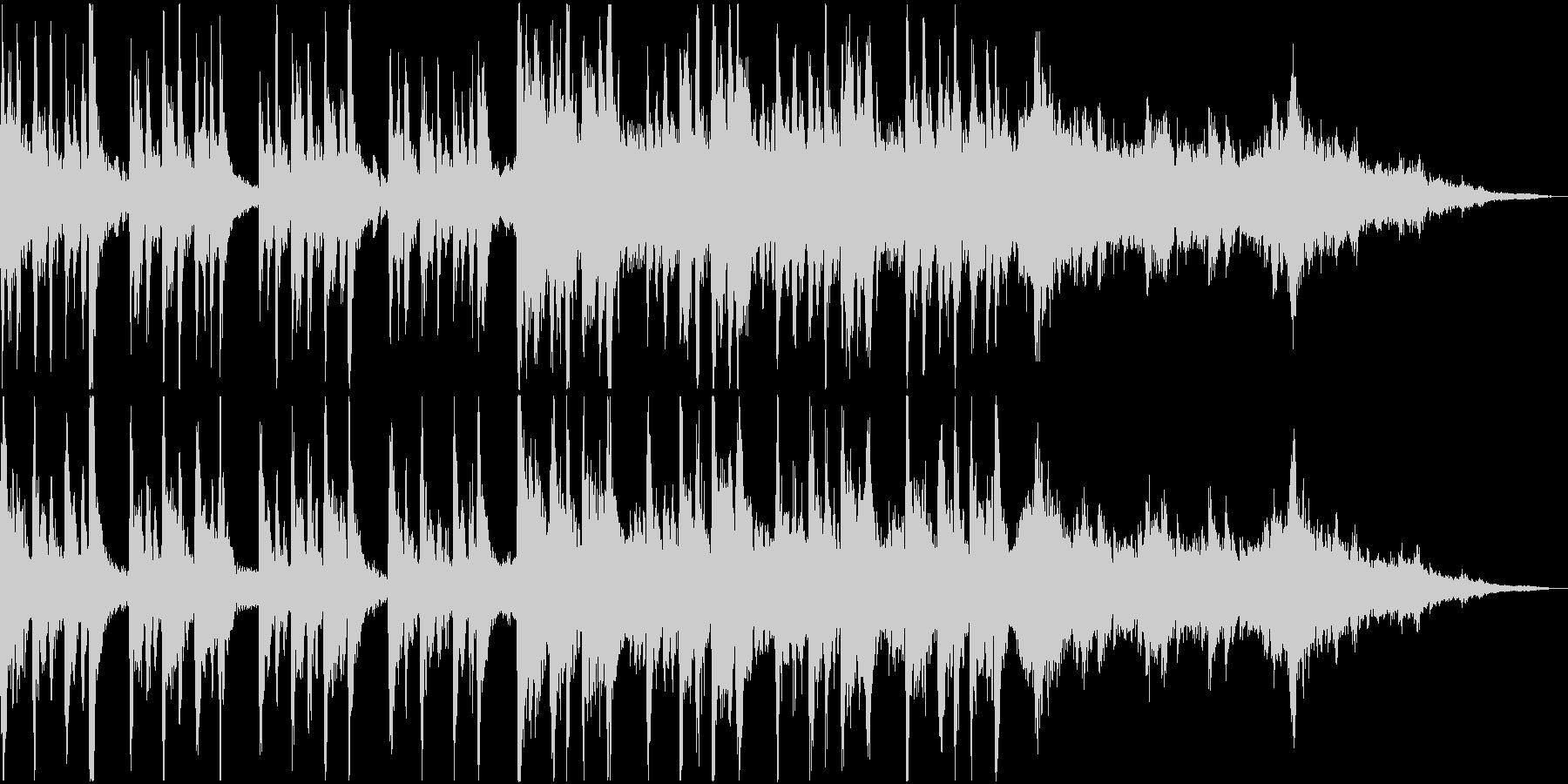 不気味なホラー曲 ストリングと木管系の未再生の波形
