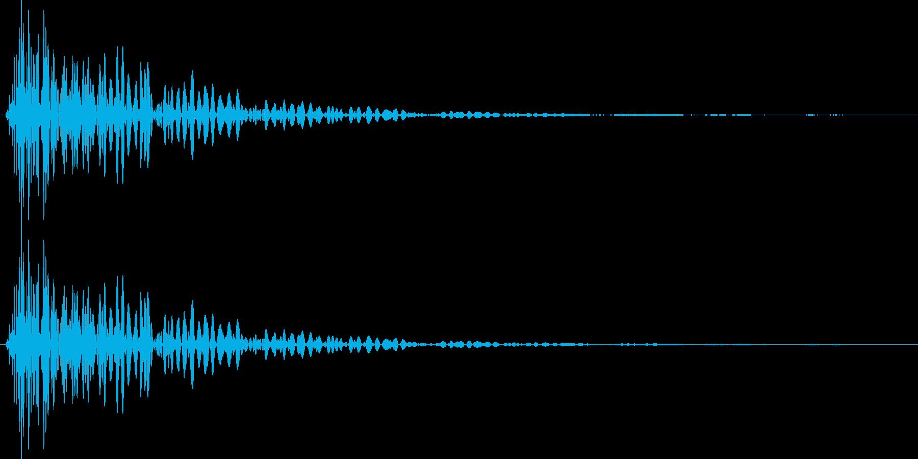 ドン(叩く音・木を叩く・打撃音)の再生済みの波形