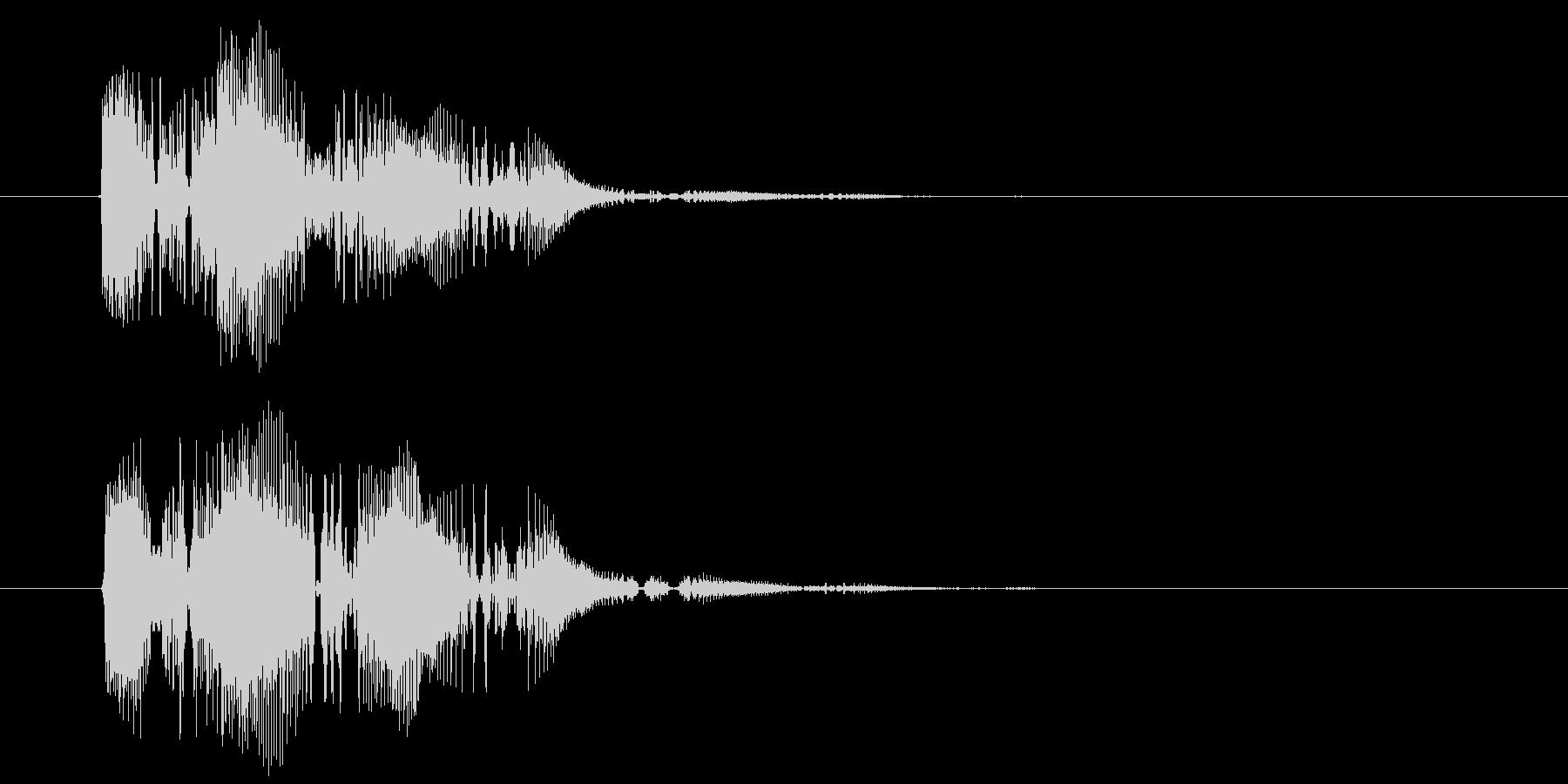 間抜け演出音1の未再生の波形