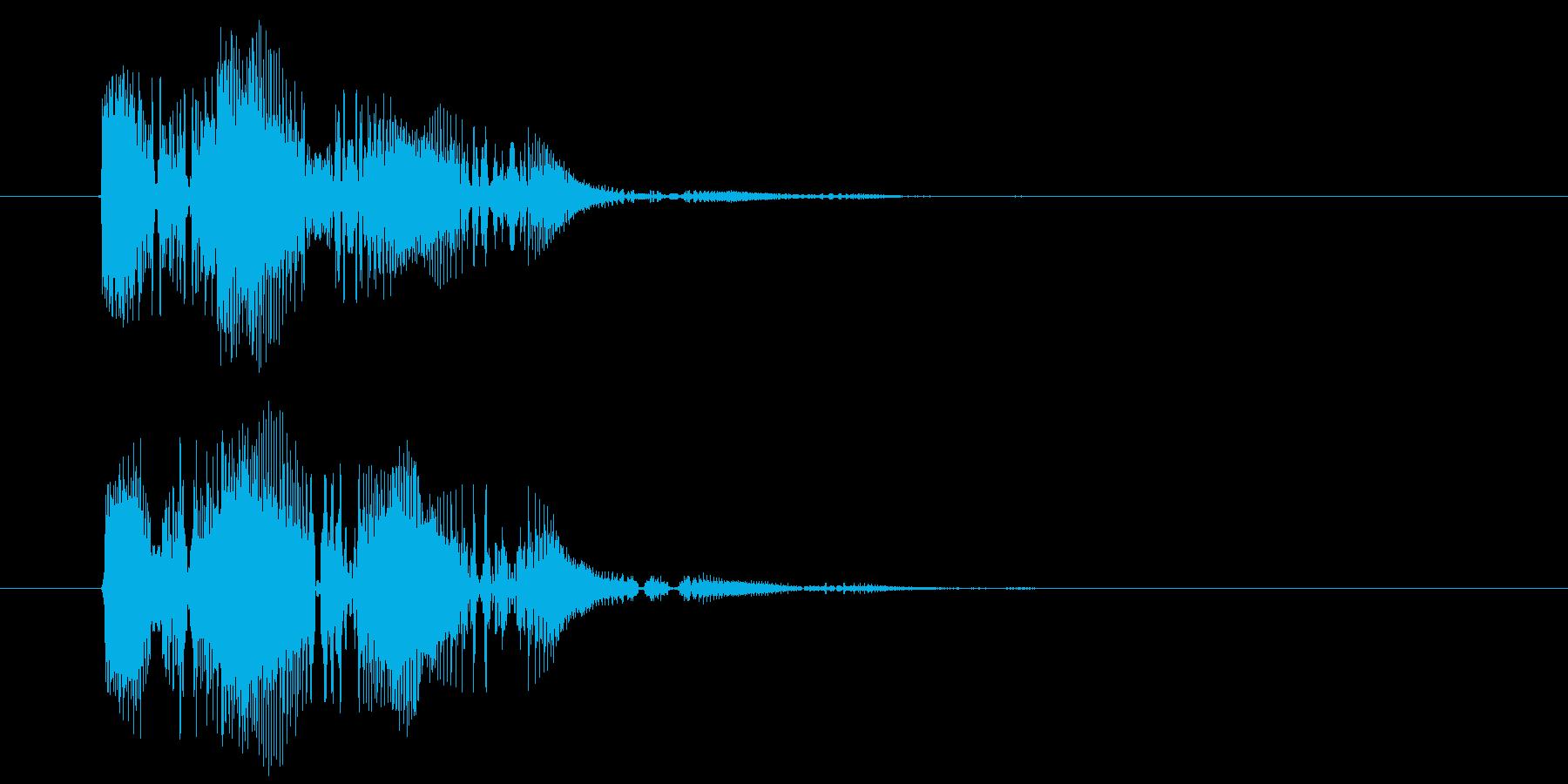 間抜け演出音1の再生済みの波形