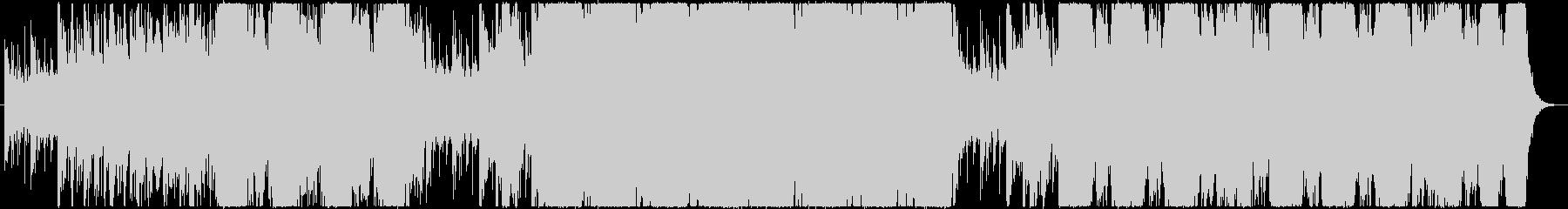 戦闘シーン用緊迫感あるBGMの未再生の波形