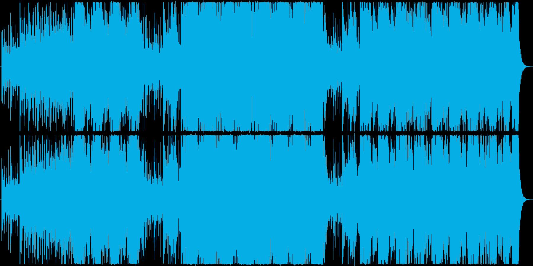 戦闘シーン用緊迫感あるBGMの再生済みの波形
