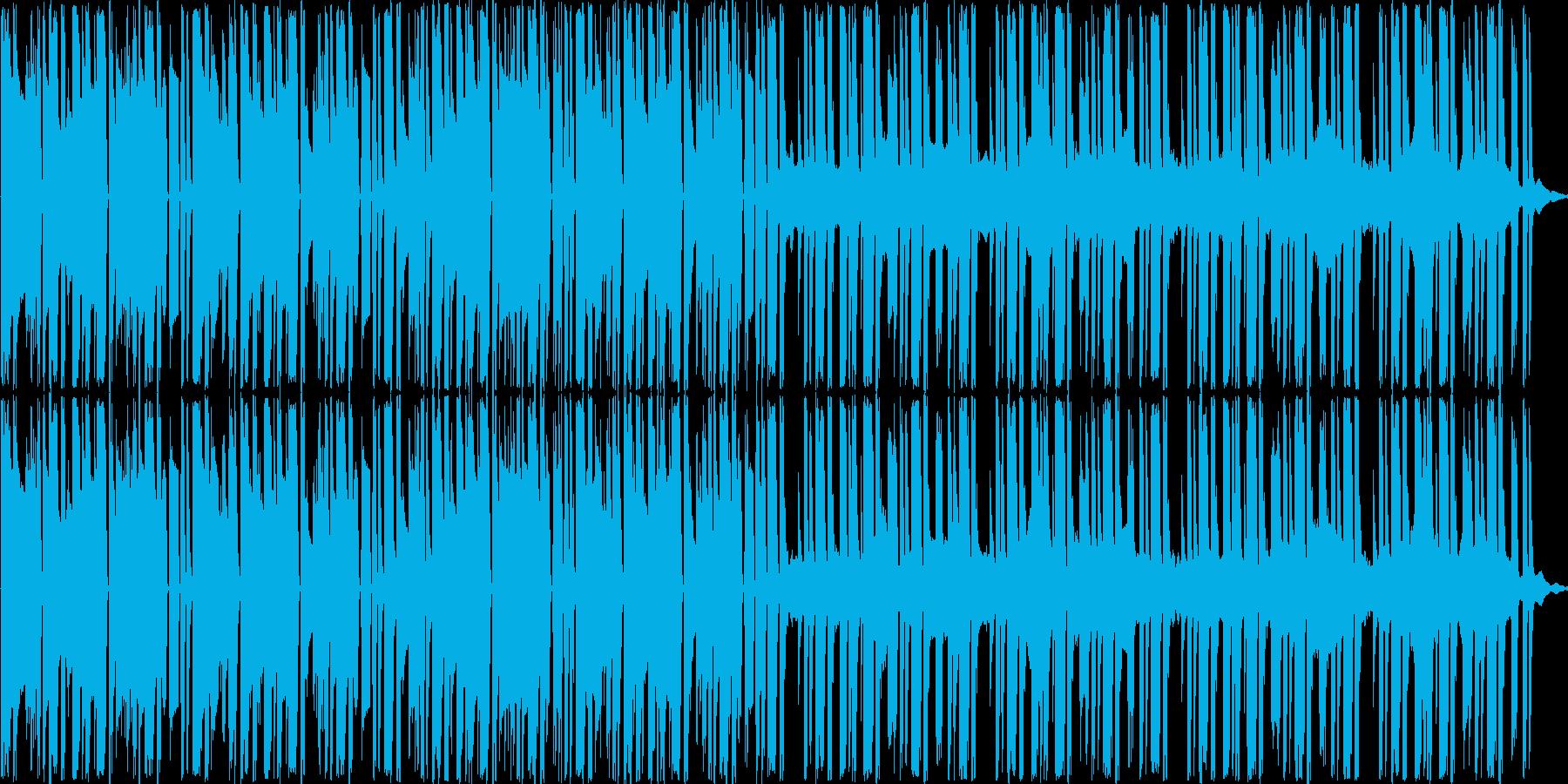 明るく軽快な曲ですの再生済みの波形
