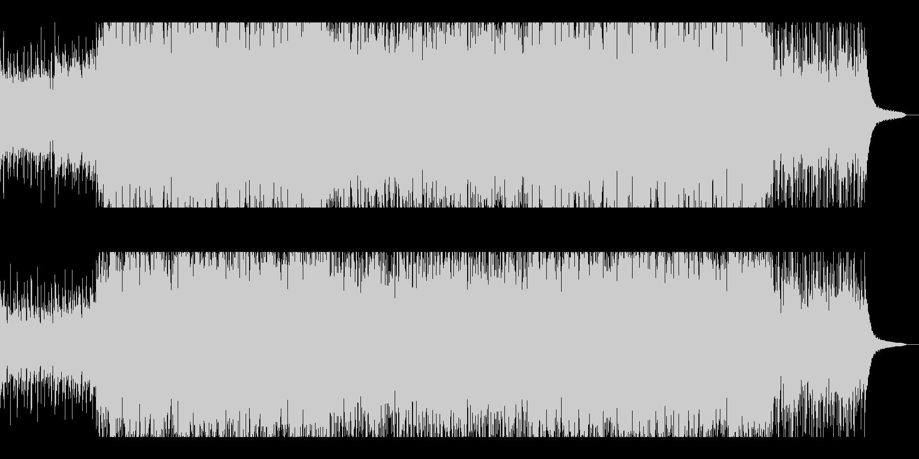 コーラスとブラスが絡み合うポップスの未再生の波形