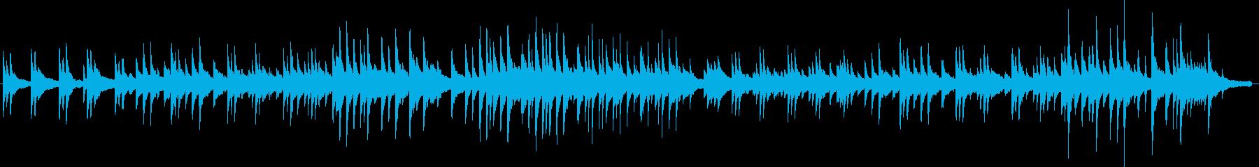 どこか物憂げなピアノソロ曲の再生済みの波形