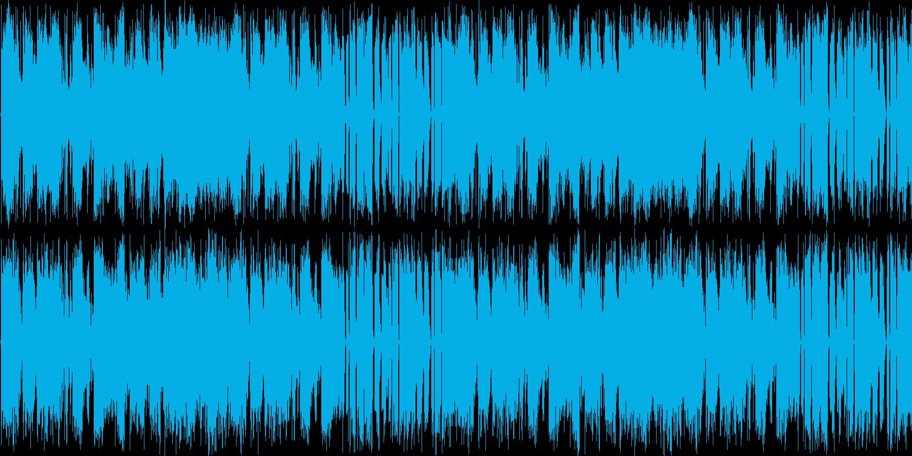 【アップテンポ/ハードロックギター】の再生済みの波形