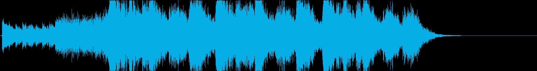 静かなピアノから壮大なオケ③15秒版の再生済みの波形