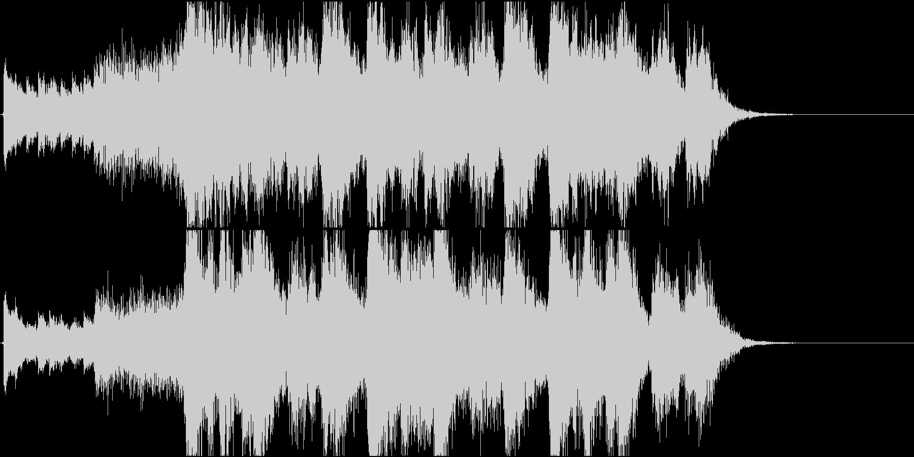 静かなピアノから壮大なオケ③15秒版の未再生の波形