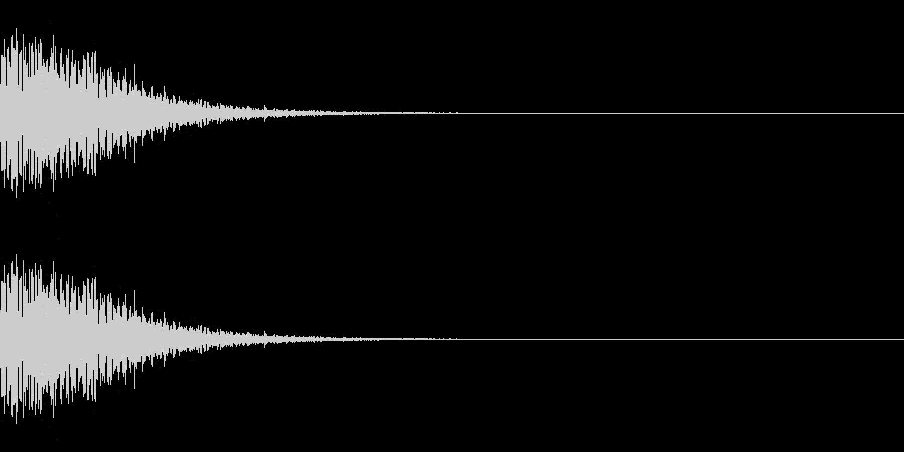 魔族を倒したときの音(コウモリ/悪魔)の未再生の波形
