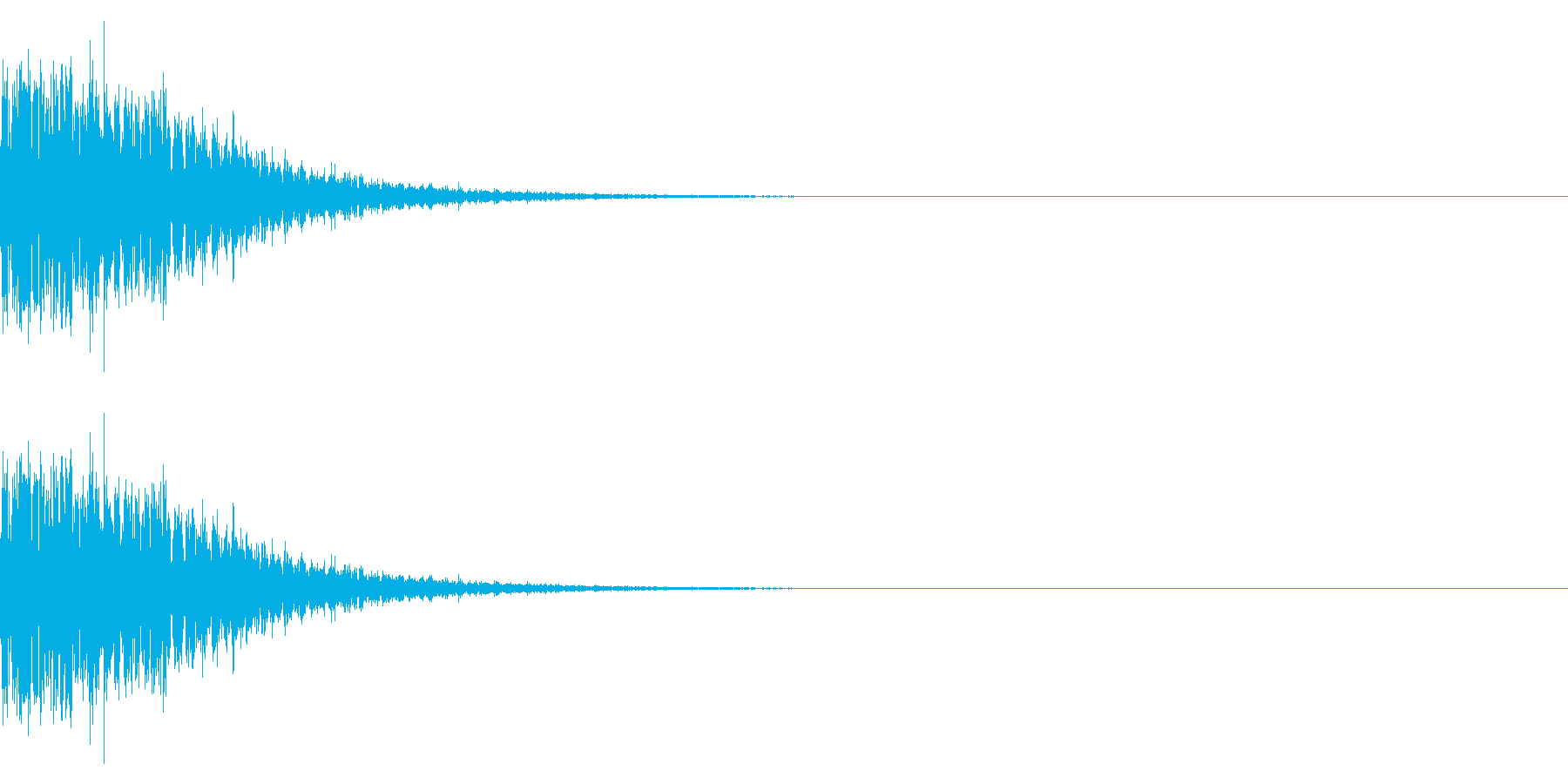 魔族を倒したときの音(コウモリ/悪魔)の再生済みの波形