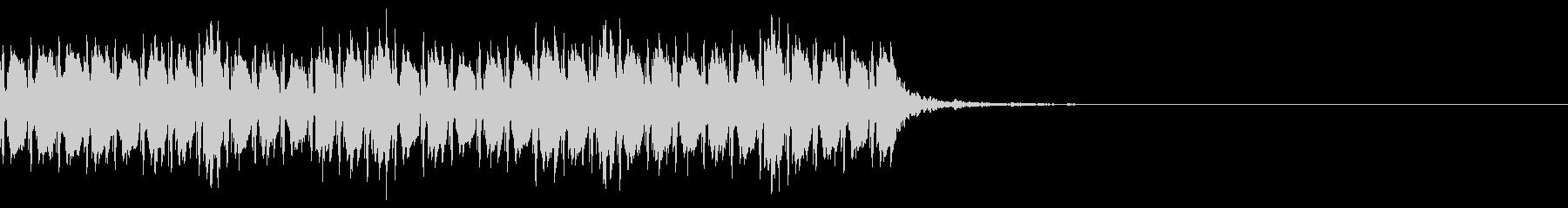 Techno風のJingleの未再生の波形