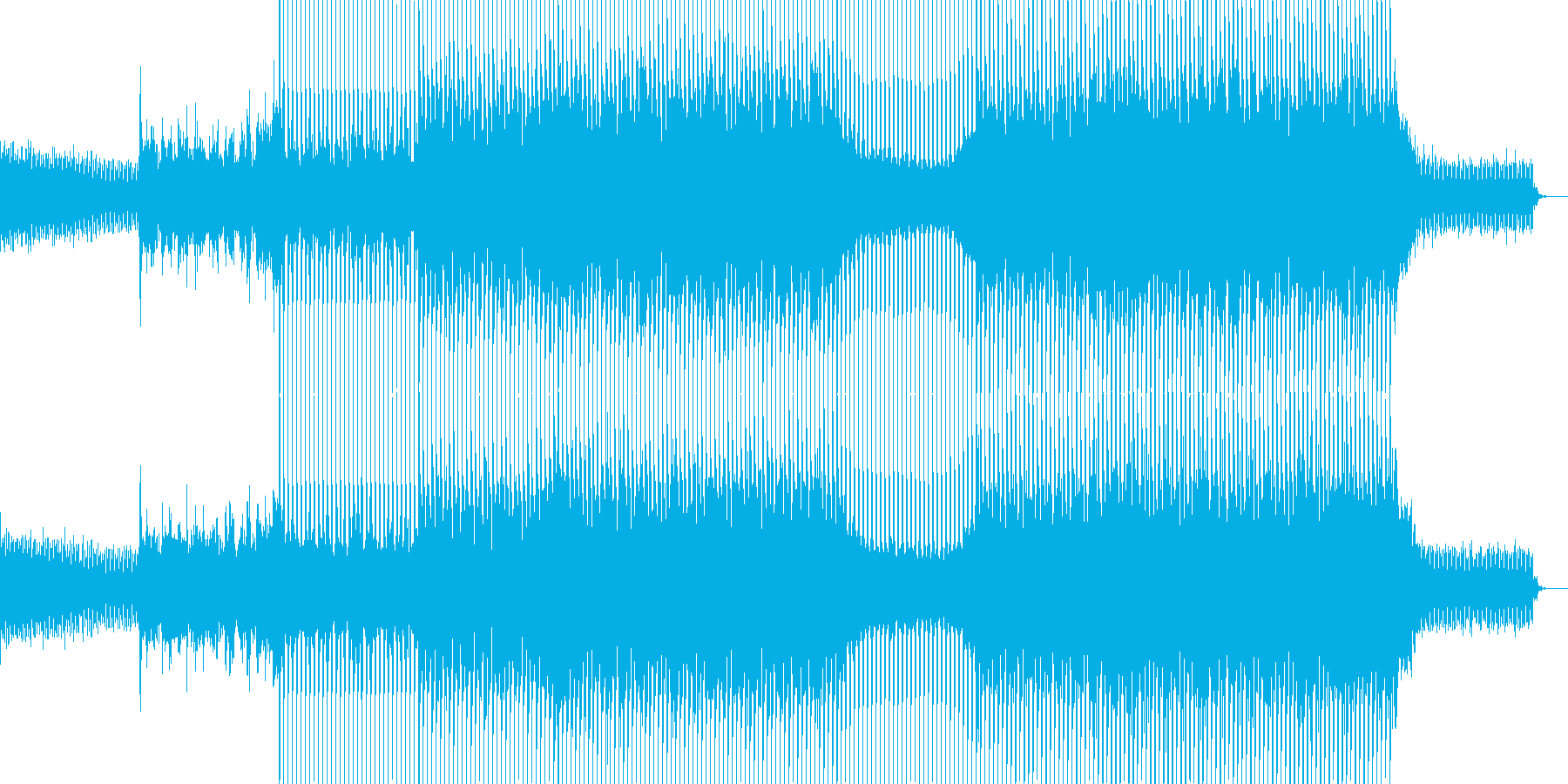 EDMポップで明るいクラブ系-13の再生済みの波形