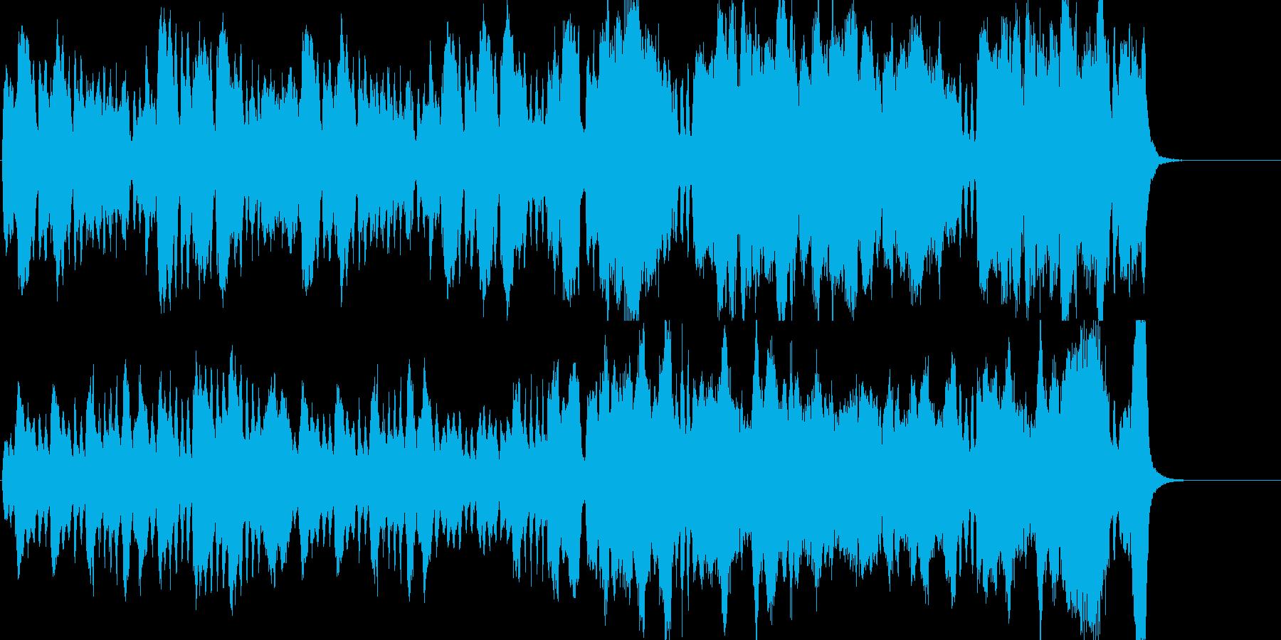 クラシカルで典雅なストリングス曲の再生済みの波形