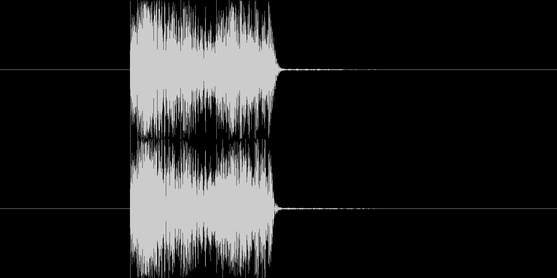 シンセで作った斬撃音です。下から斬るあ…の未再生の波形