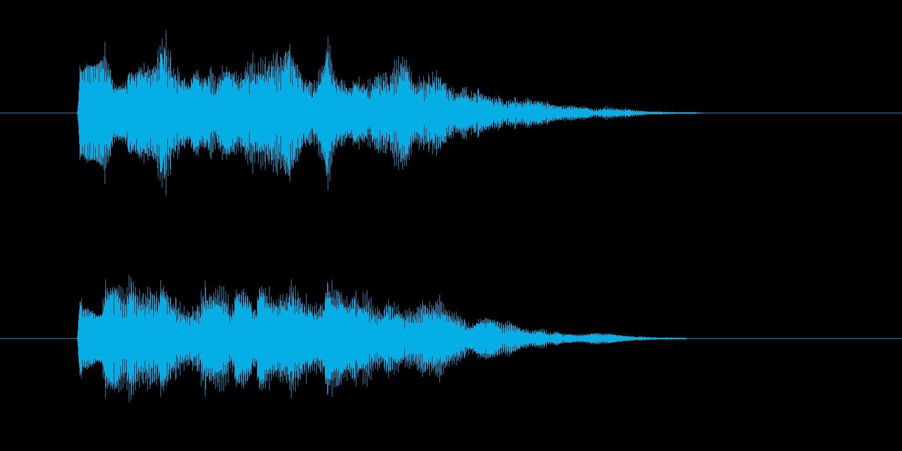 魔法やアラーム系/チャラチャラチャララーの再生済みの波形