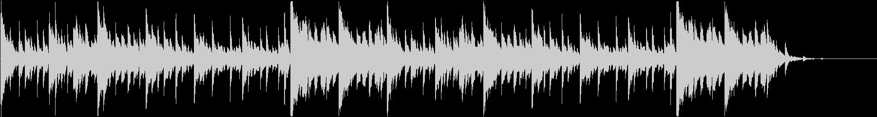 透明感のあるスロー映像・ピアノ・ループの未再生の波形