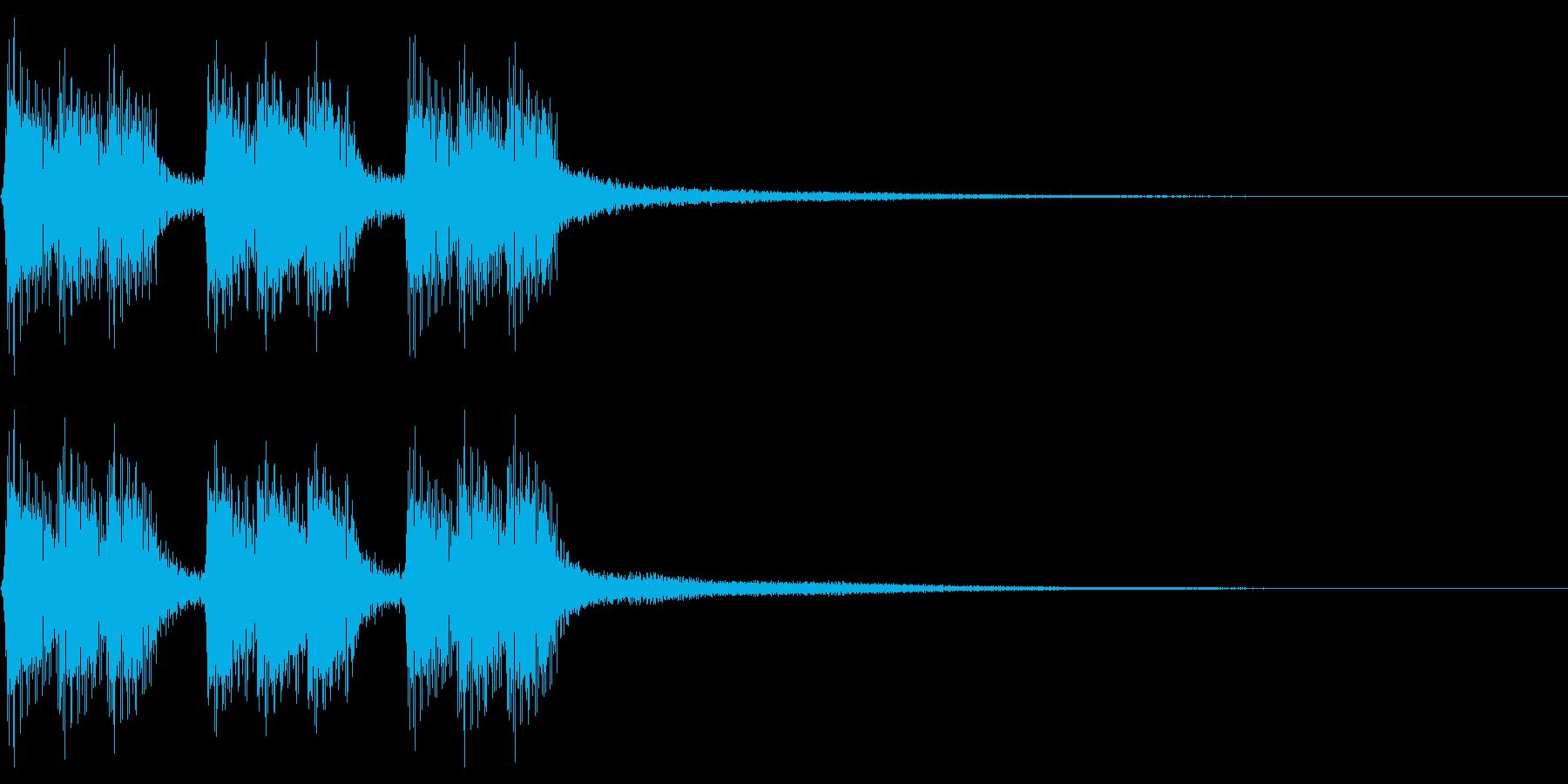 コミカルな感じのレトロなゲームオーバー音の再生済みの波形