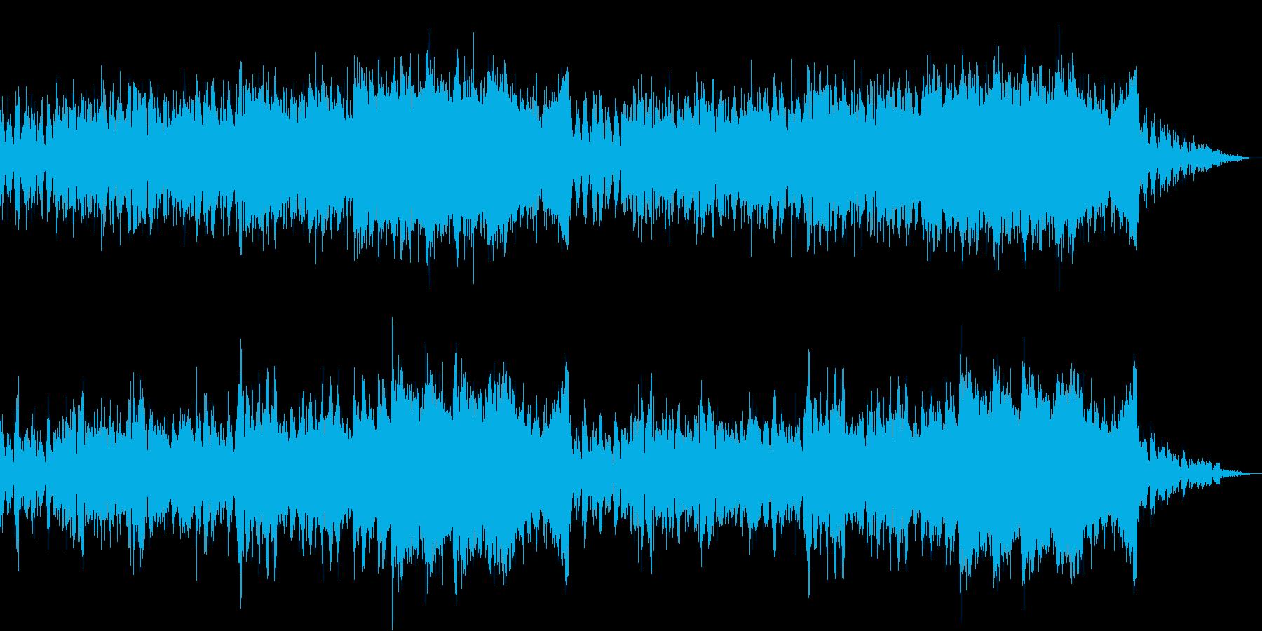 チュートリアル画面に適したオーケストラ曲の再生済みの波形