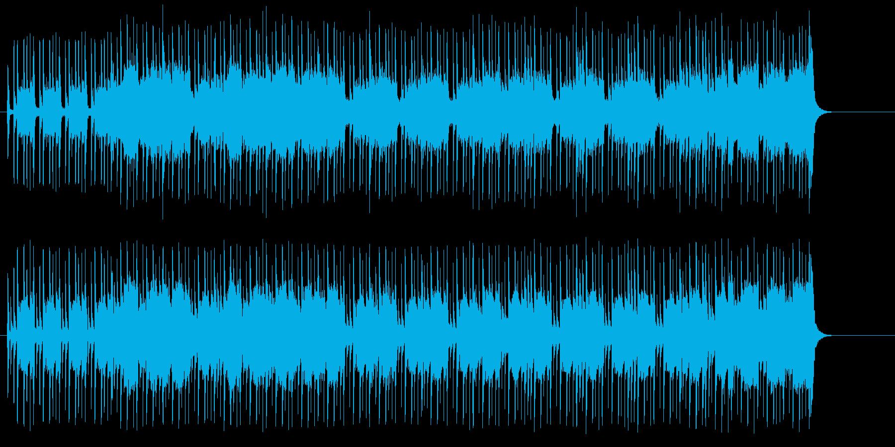 クイズ、情報番組向けのポップスの再生済みの波形