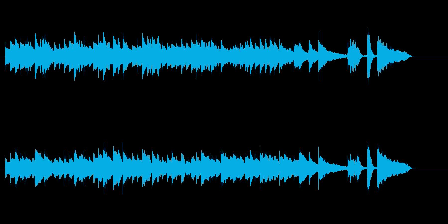 丘の上でピアノを聴いているようなジングルの再生済みの波形