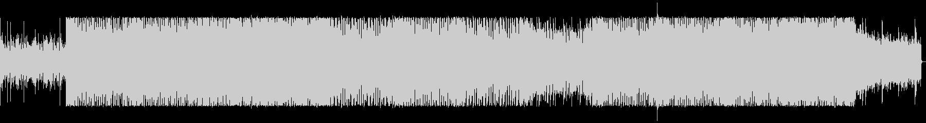 ドラムとシンセのくにゃくにゃ音のミックスの未再生の波形