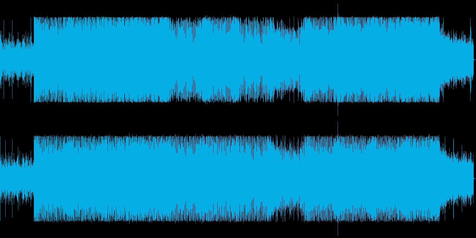 ドラムとシンセのくにゃくにゃ音のミックスの再生済みの波形
