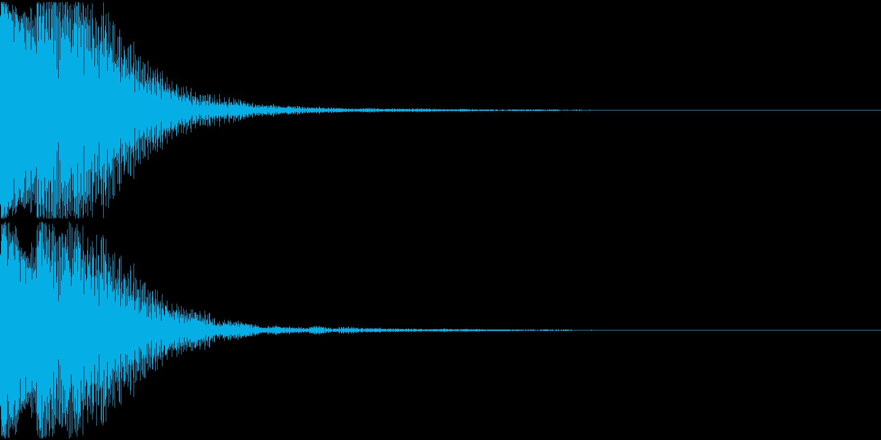 キャンセル音02(テロリッ)の再生済みの波形