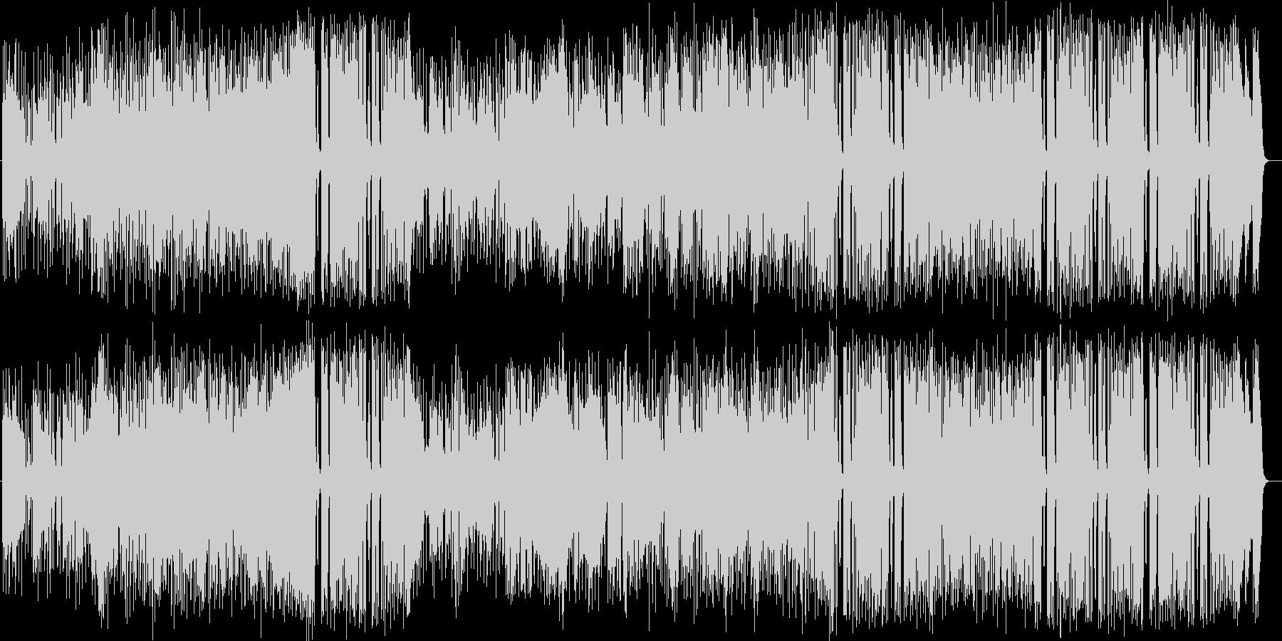 トランペットによる情熱的なジャズの未再生の波形
