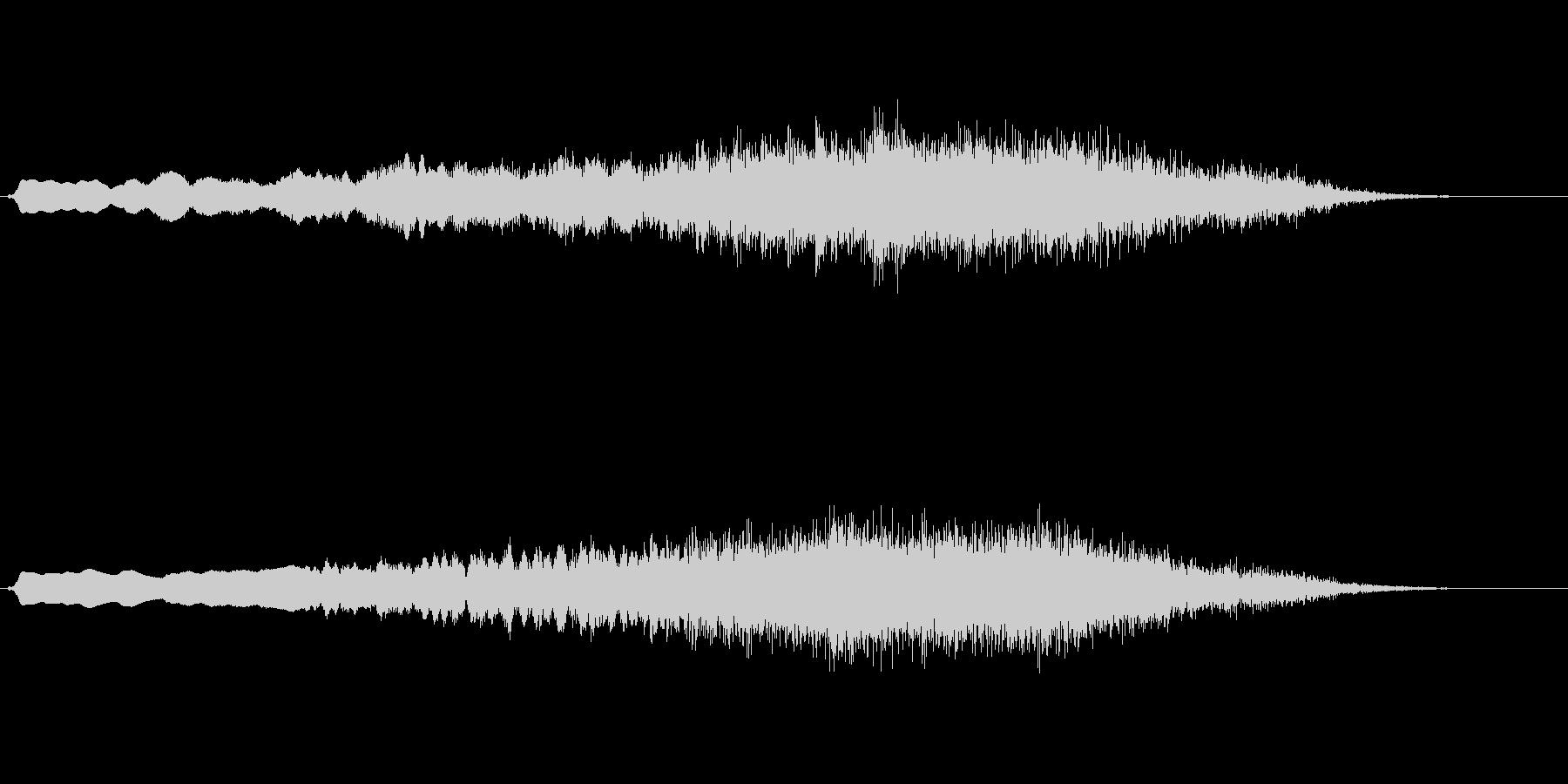 オーケストラチューニングのようなジングルの未再生の波形