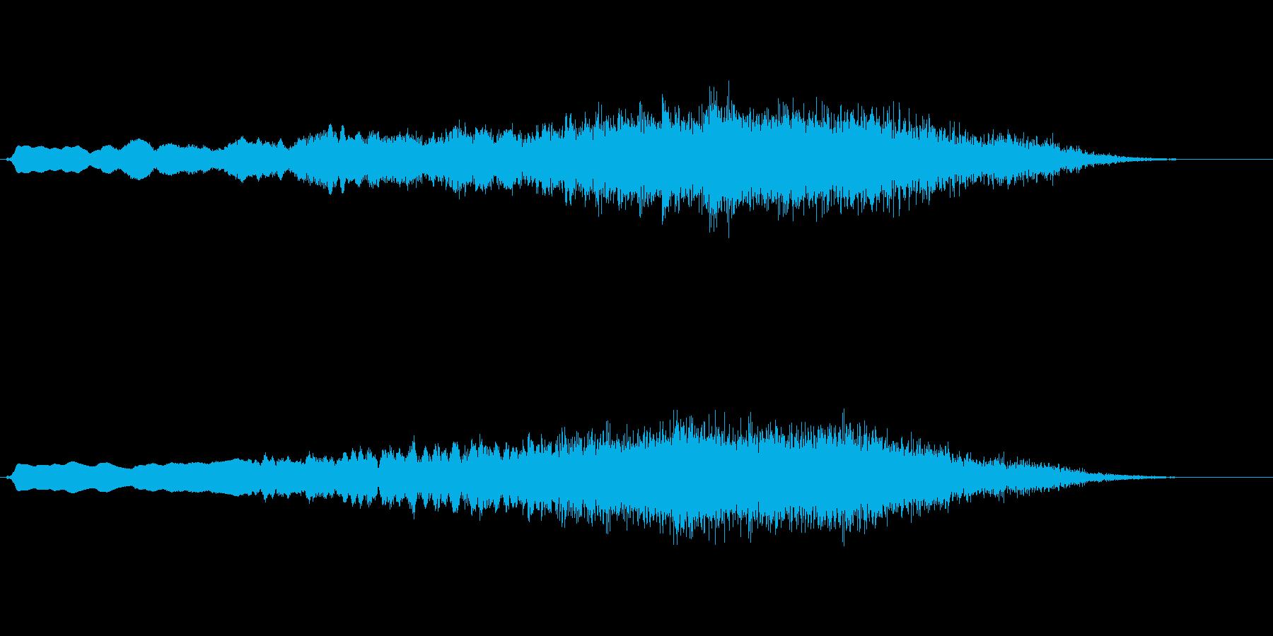 オーケストラチューニングのようなジングルの再生済みの波形