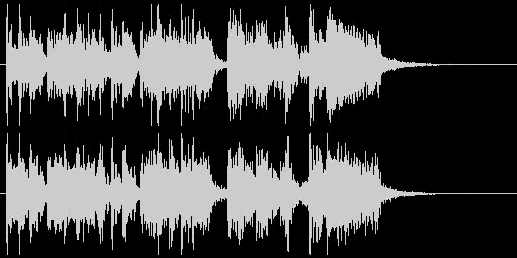 ポップなフュージョンのサウンドロゴの未再生の波形