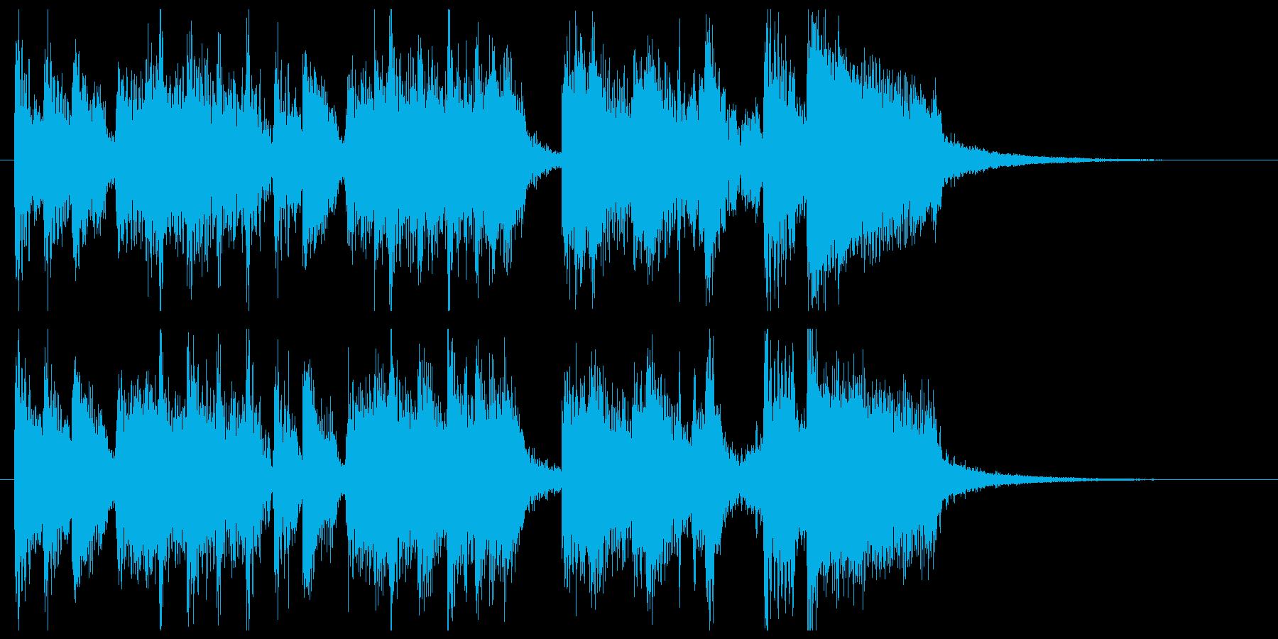 ポップなフュージョンのサウンドロゴの再生済みの波形